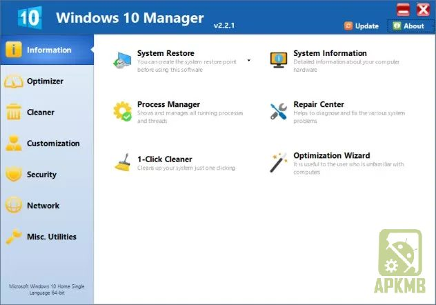 Windows 10 Manager 2.3.9 + Portable is Here ! 2