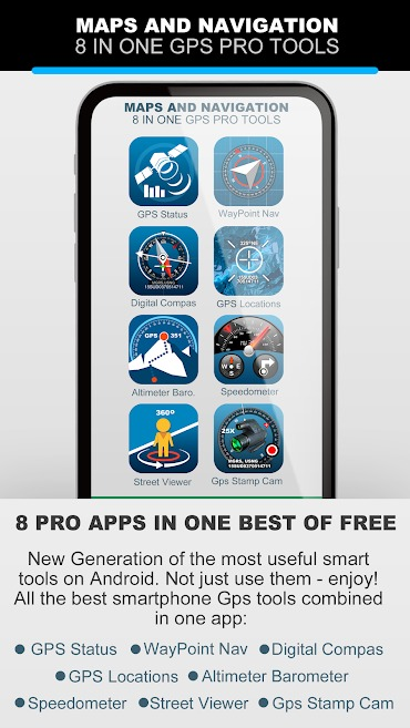 MAPS AND NAVIGATION 8 IN ONE GPS PRO TOOLS